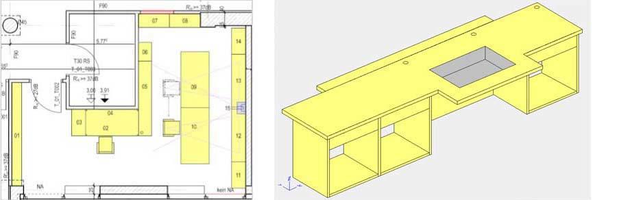 Sonderbau Medienmöbel, 19 Zoll Medieneinbauten, 19 Zoll Medienmöbel, ergonomischer Arbeitsplatz, Fachplaner Medientechnik