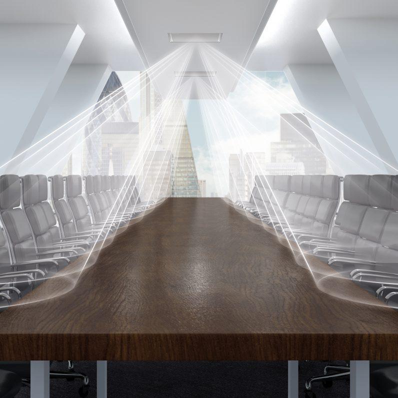 Shure Ceiling Decken Arraymikrofon, Fachplaner Medienraum Technik