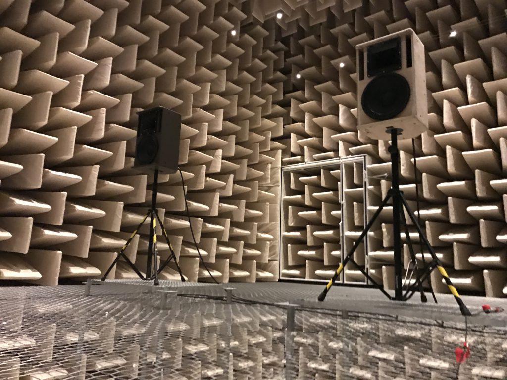 Lautsprecher Entwicklung, reflexionsarmer Raum, TU Berlin, Messtechnik Guido Kacher