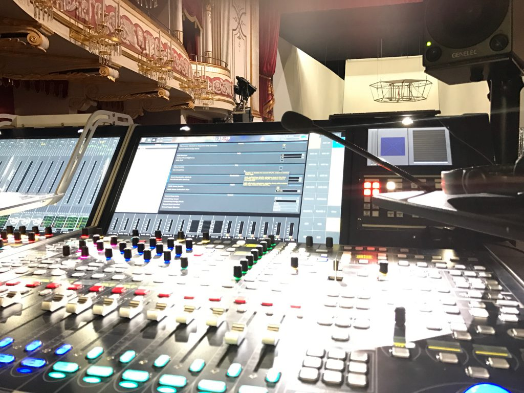 Theater Regensburg, Lawo MC56 Mischpult, Theatertechnik, Beschallung für Theater