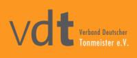Das Bild zeigt das Logo des VDT, Verband Deutscher Tonmeister e.V.
