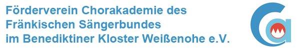 Das Bild zeigt das Logo der Chorakademie Weißenohe e.V.