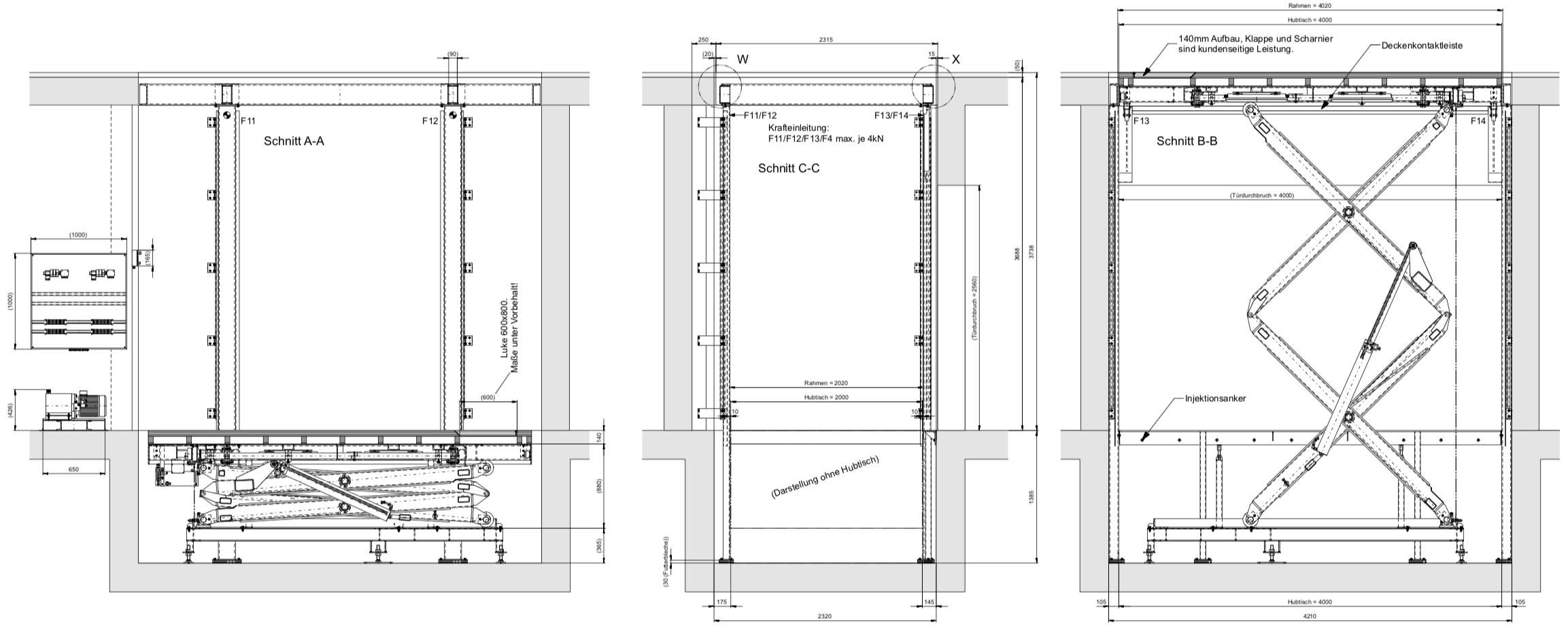 Versenkeinrichtung, Verwandlung Theater, Hubpodium, Theater Planer